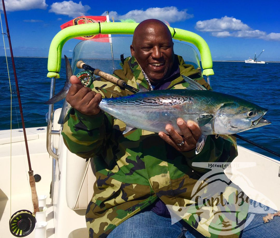 Cape Lookout false albacore on the fly tends to make ya smile!!