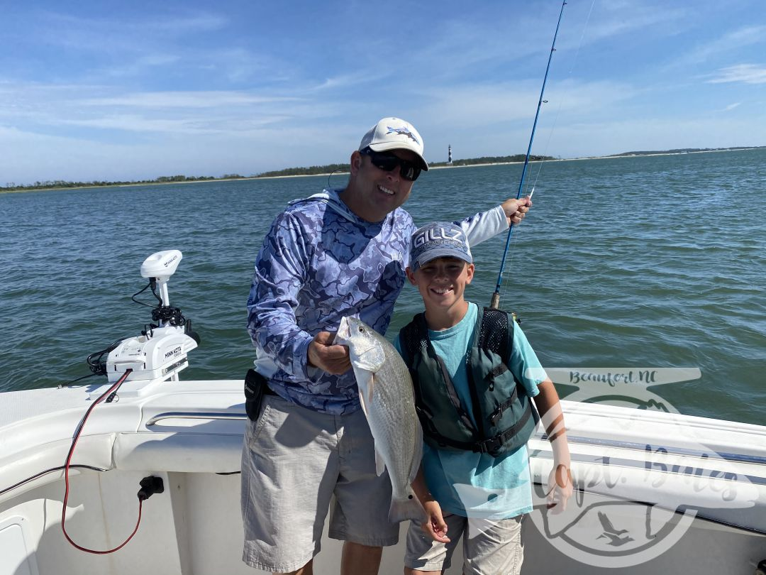 Mr Darren, booked the boat by himself and told my mate Buddy to fish along side of him. They had a ball! We fished on the inside casting metal jigs to puppy drum and busting spanish! We all had so much fun and lots of laughs!