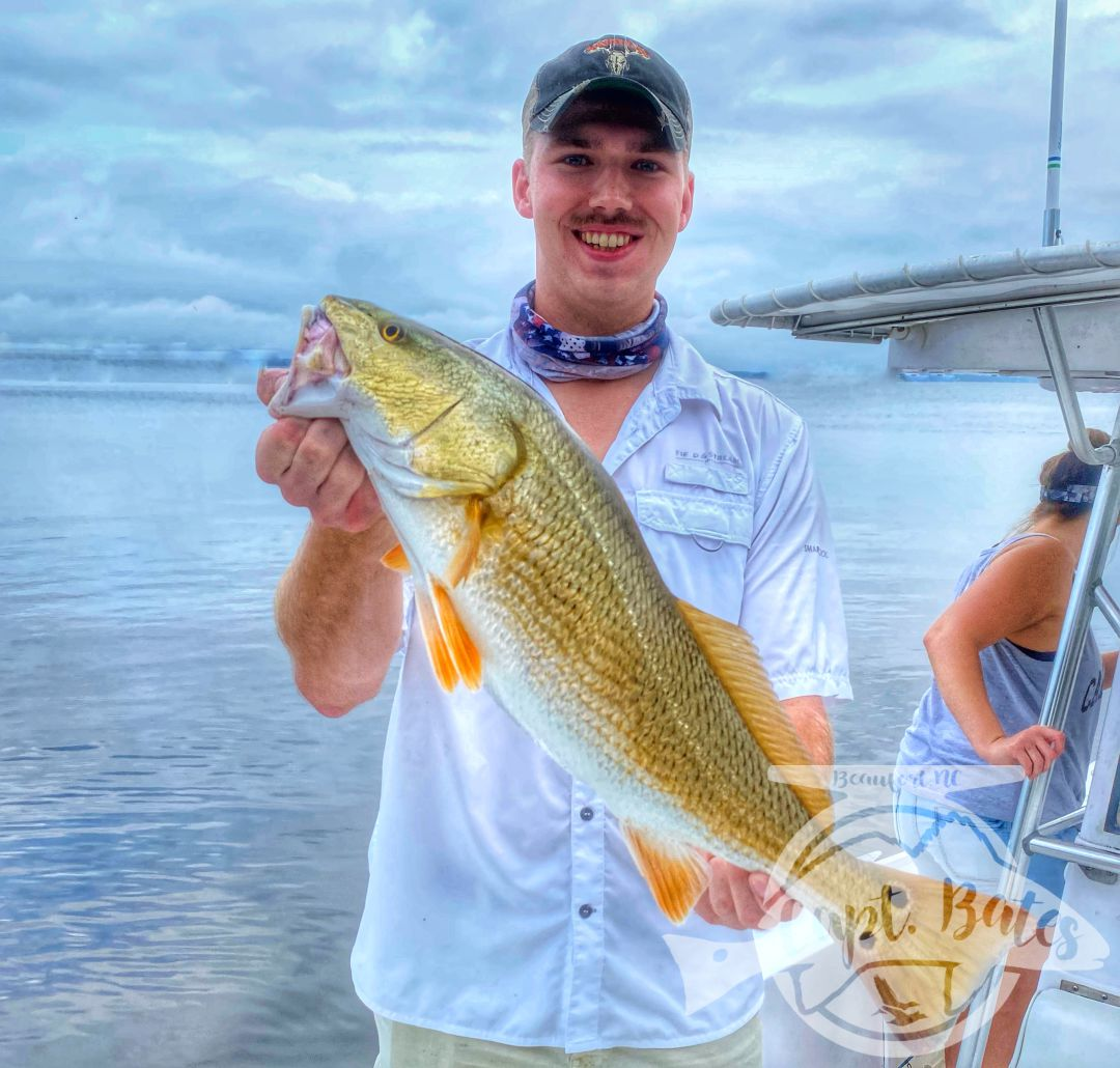 Redfish of all shapes and sizes for this Marine and his family! Top water slots All around and grinded our for a trophy redfish for his dad! Dodged thunderstorms and had a great morning with great company!
