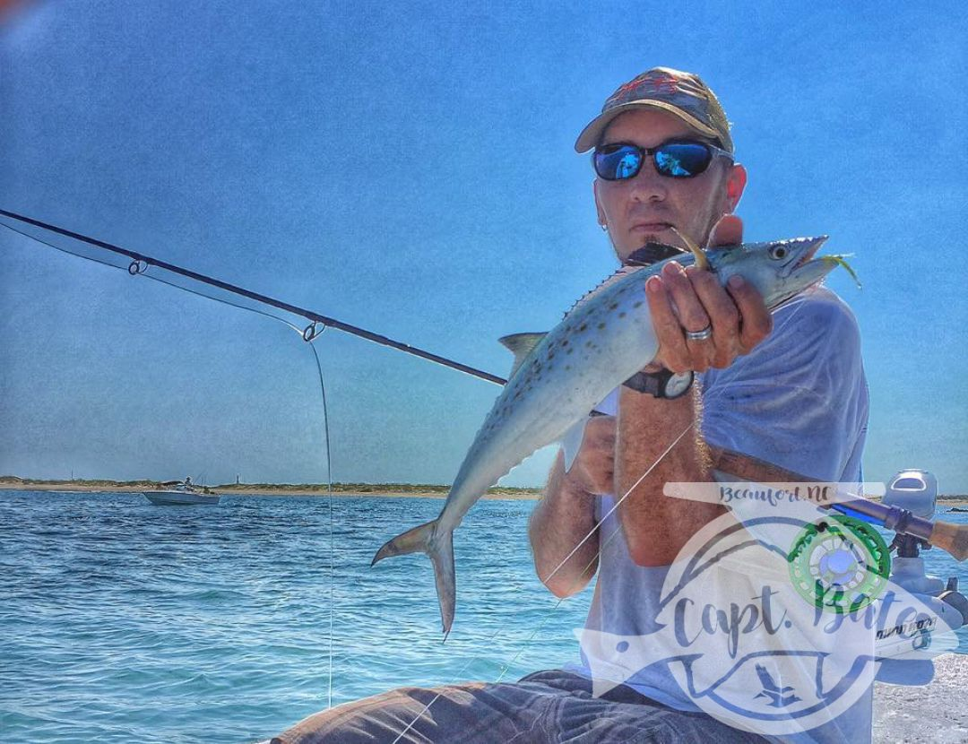 Fat spanish on the fly at Cape Lookout! We wont even discuss the one that got away that day...