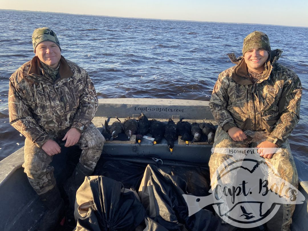 I meet Branndon last year in the tackle shop, he booked a trip for him and his dad. What a difference a day made! Birds flew and decoyed like a dream and these great guys made short work of their limits!