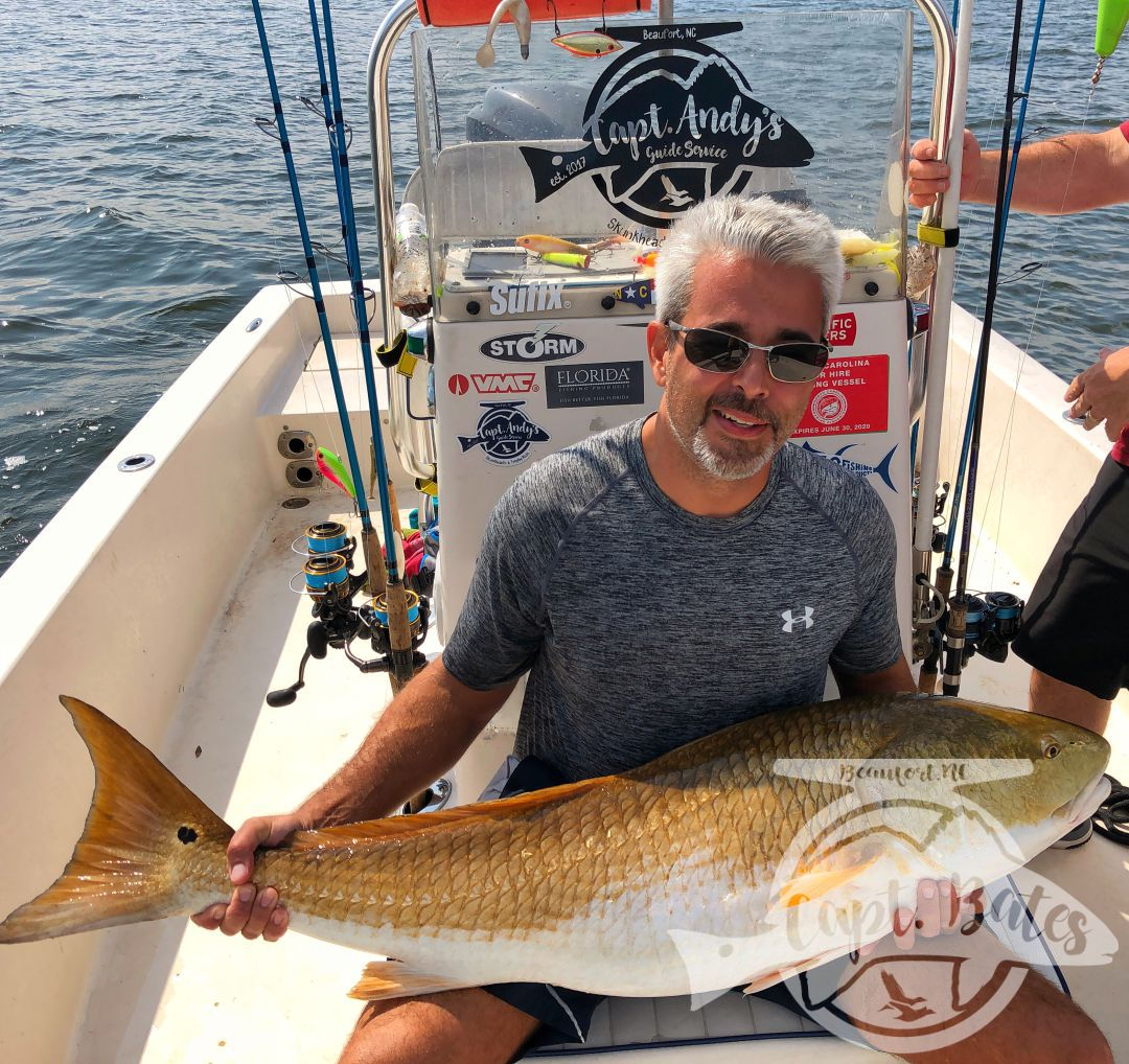 I was fortunate enough to carry a couple of guys from Philly today, that have never been trophy redfish, or red fishing at all for that matter. The wind was up pretty good even before daylight this morning, and had had switched directions after the major storms we had roll in yesterday. I have 4 rules i tell everyone that i take big drum fishing on popping cork and artificial lures. Sometimes we are fishing a general area and any long cast will do, sometimes we are fishing small bait balls and have to make accurate casts to get bit, lately most of what we are doing is targeting specific schools of menhaden and if you don't make your cast count, you will not get bites! My guys today figured that out pretty quick and adjusted! My two favorite things about things about being a fishing guide are teaching someone a technique and then seeing the fruits of their labor when it all comes together.