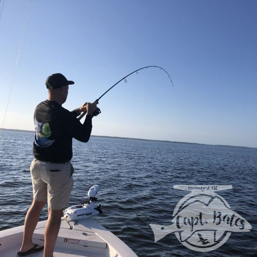 Had a great time with my good friend Bradley and his wife, went out looking for their first Trophy Redfish and we found them!  Unfortunately, we had some tough luck early with 2 fish spitting the hook mid fight, and one jig came off a loop knot.   But we kept at it, and was able to get him his first ever Neuse River trophy redfish!