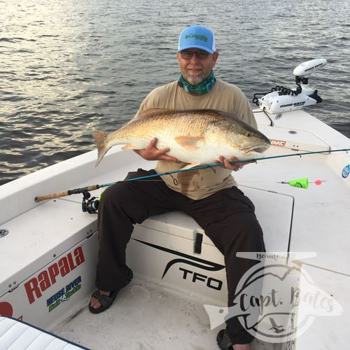 Another personal best for a great client in 2018, trophy drum fishing the lower Neuse river and Pamlico Sound, North Carolina. Popping cork and soft plastics on jig heads are the most effective way to catch these fish!