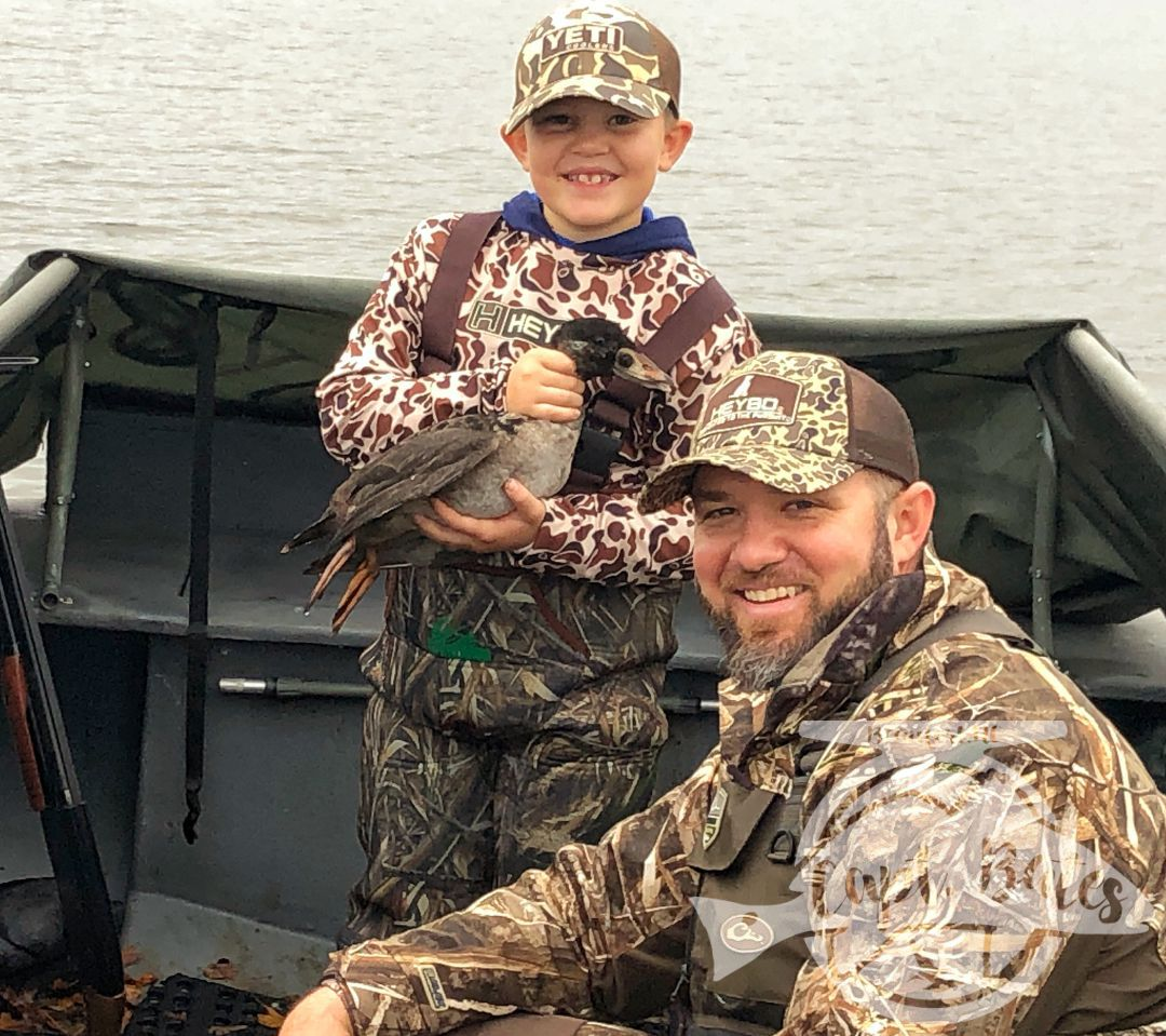 Today will be a trip I will never forget, I had the pleasure of hosting 3 generations sea ducking, with it being 8 year old Carter's first ever duck hunt! He shot his first duck, first ducks on the wing, and first sea duck limit!! Other then sharing these moments with your own kids there is nothing like being there when the youngins get to experience all of what we love to do for the first time. Thanks for allowing me to be a part of it Cees Justen and Rick Justen, helluva a job Carter! I think he's ruin't.
