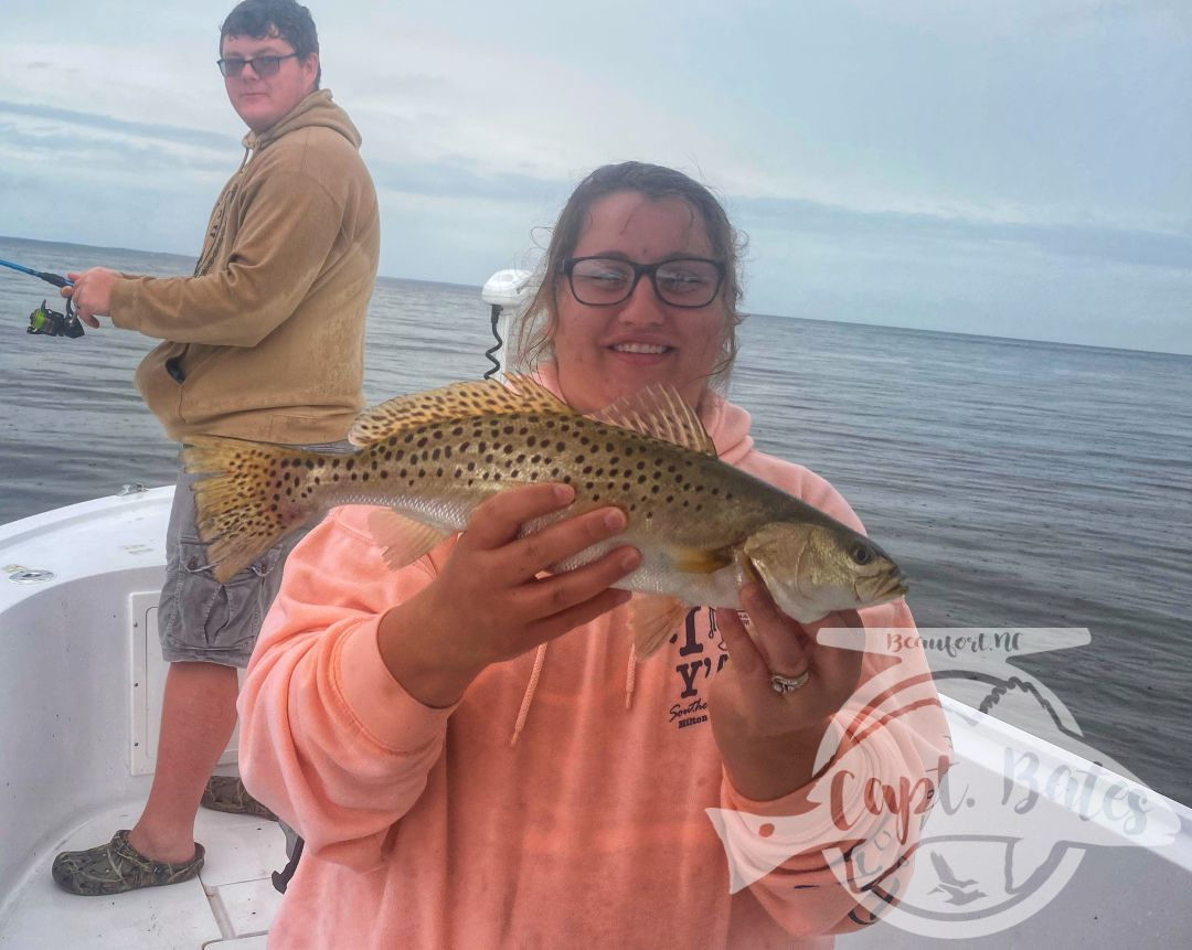 This family from WV wanted to catch some meat fish, and they picked up on the popping cork technique quickly! Sent them home with some nice speckled trout and slot redfish!
