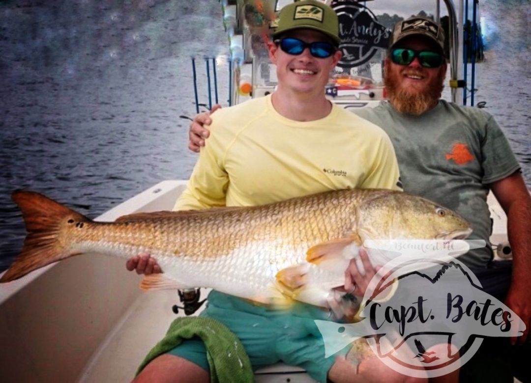Nathan with his first ever citation trophy redfish! There are few satisfactions i get, that equals that of seeing anglers hook, fight, and hold their first ever trophy drum!