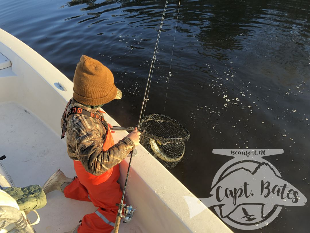 Great bite early on the hogs with Buddy and big Joe! Cold and post cold front conditions but the fish were chewing! Nice fat specks and 2 tagged redfish. Tough conditions and a different technique then we'd been fishing but being able to read the water, conditions, and what the fish want make things fun!