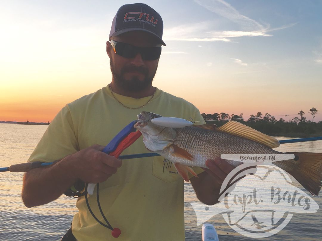 Hotrod with his first topwater redfish!