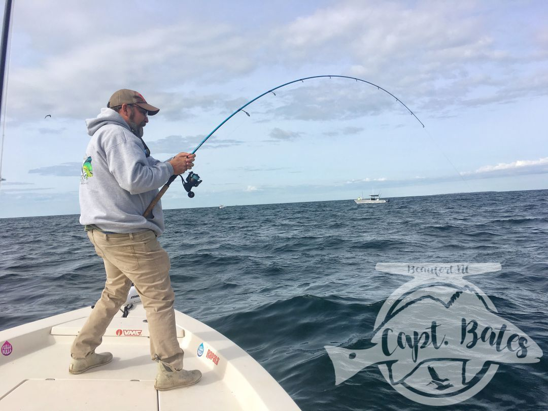 Jay battling a nice King mackerel on light tackle!