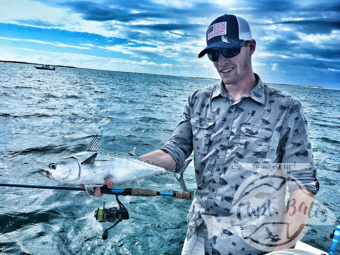 TFO med rods and FFP Osprey 3000 are the prefect pair for the false albacore on the North Carolina coast!