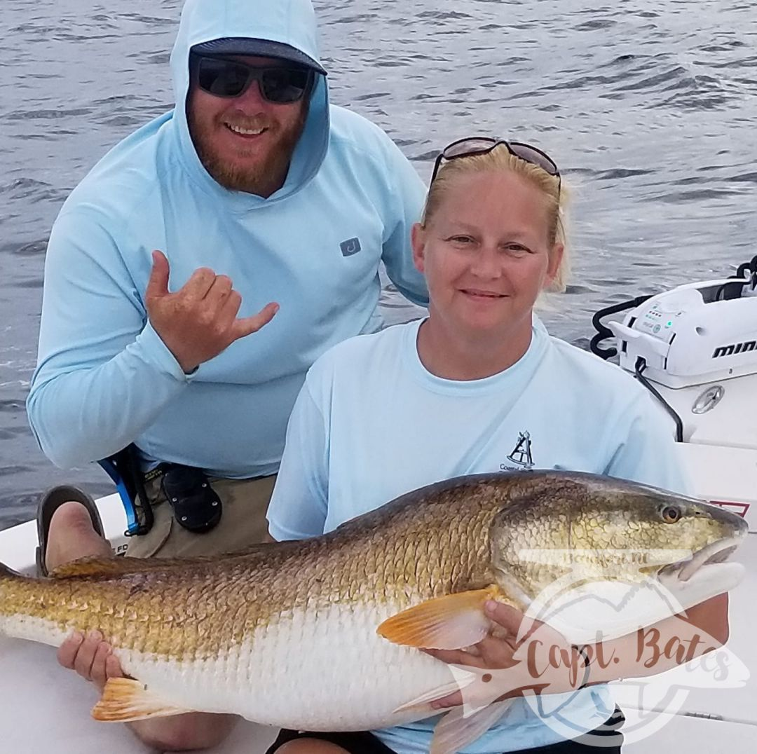 Ms Suzie with a trophy red drum!