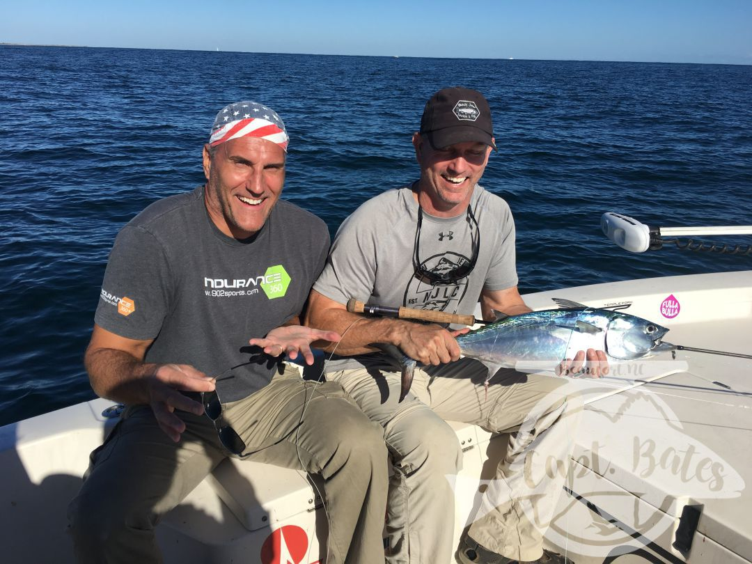 Tons of laughs, smiles, and fish! Fly fishing for false albacore seems to have this affect!
